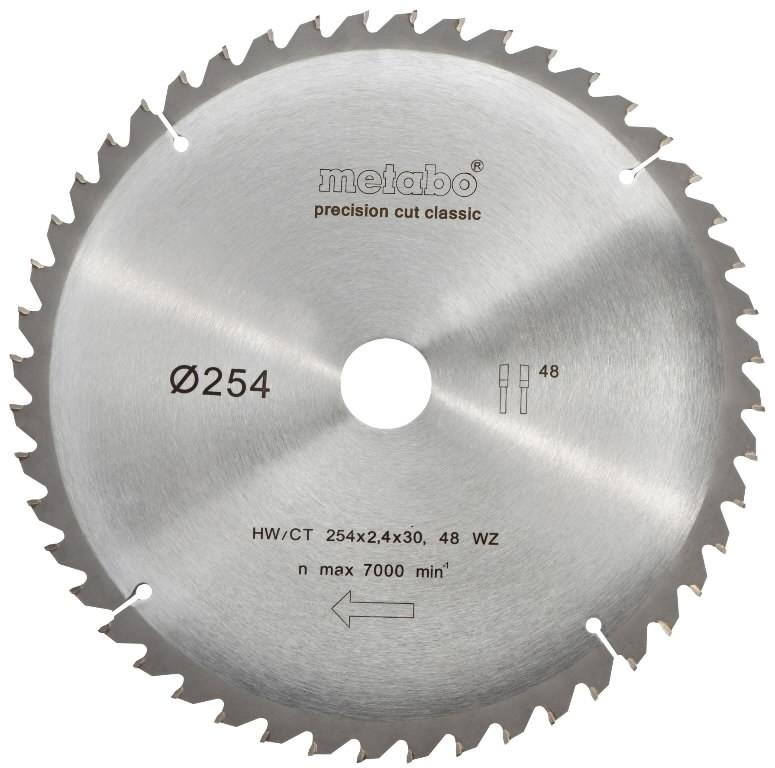 Диск пильный твердосплавный Metabo 254 x 48 x 30 (628221000) кусачки усиленные truper 254 мм