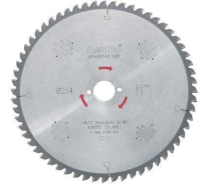 Диск пильный твердосплавный METABO Ф254х30мм 60зуб. (628222000)
