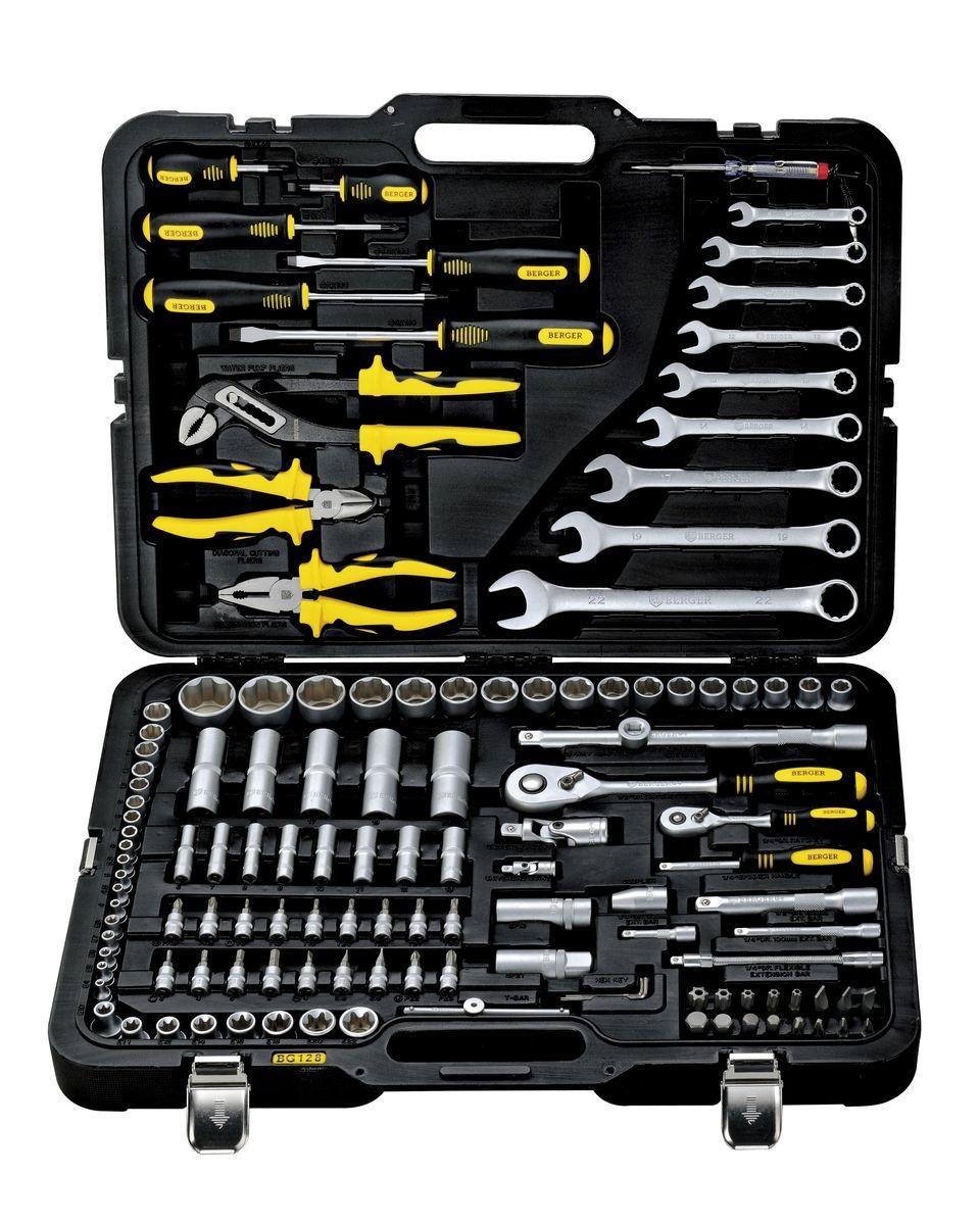 цена на Профессиональный набор инструментов, 128 предметов Berger Bg128-1214