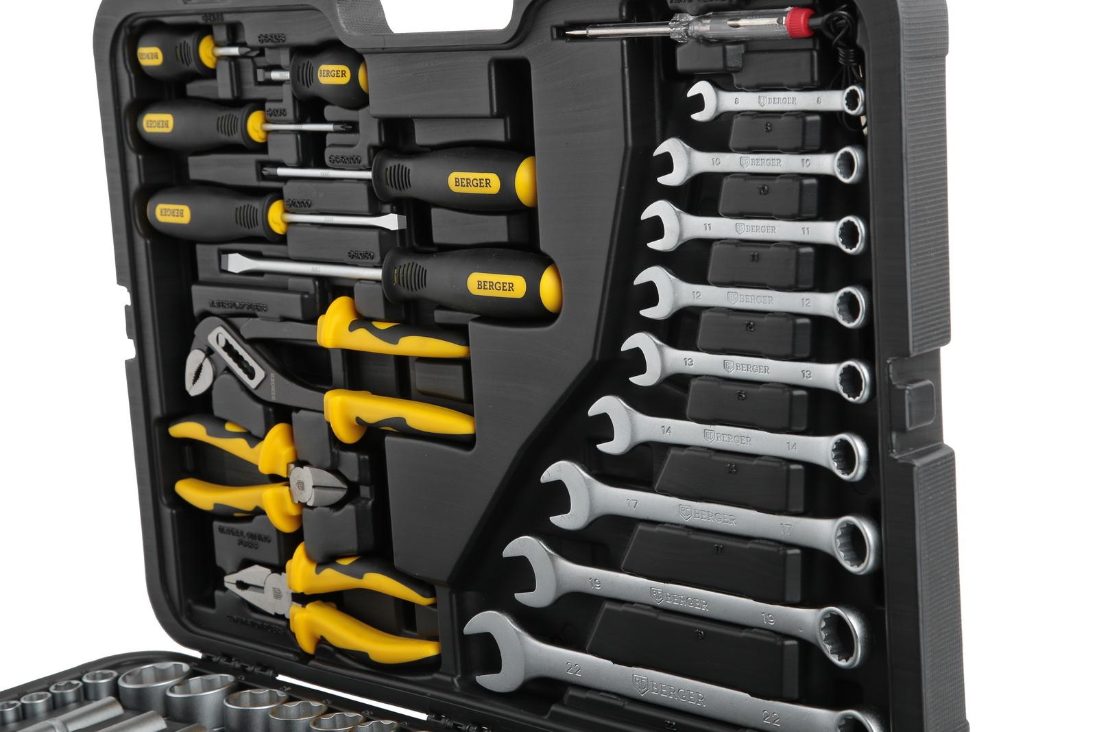 Профессиональный набор инструментов, 128 предметов Berger Bg128-1214