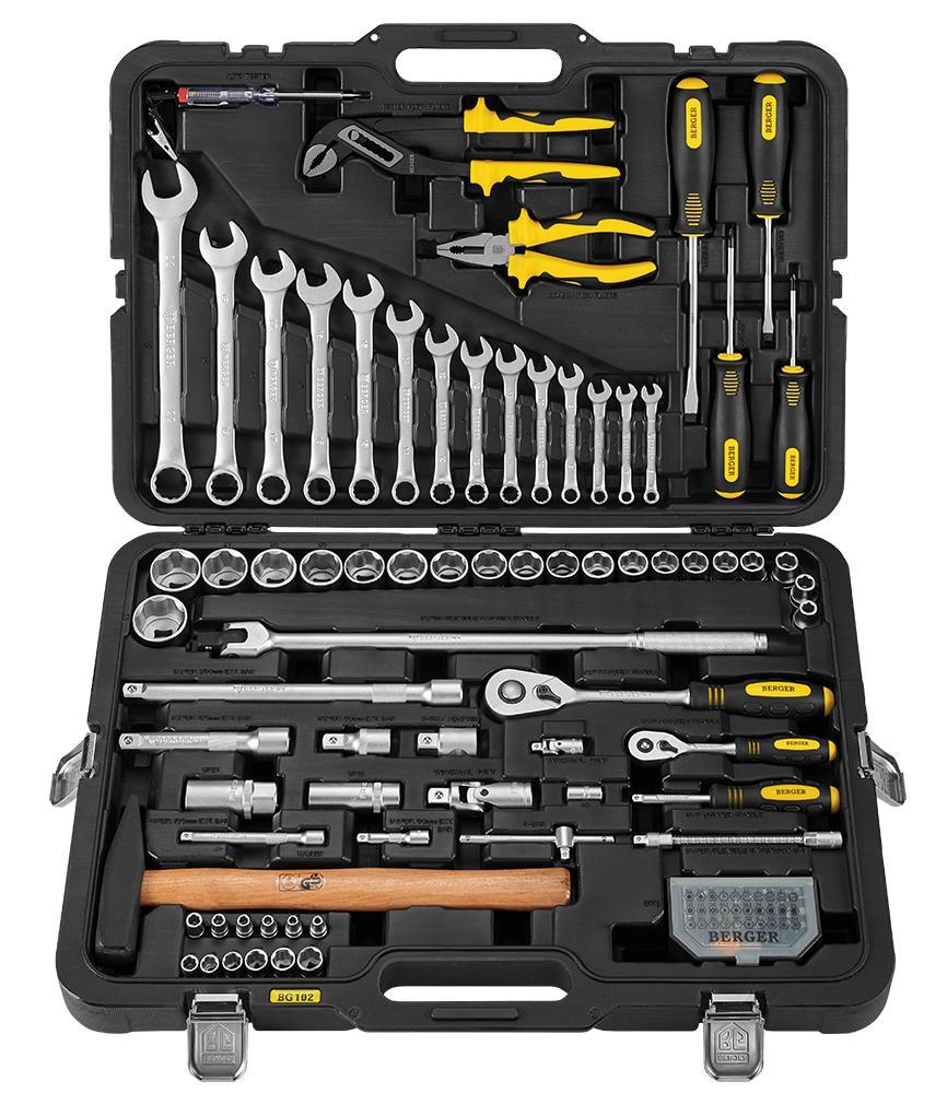 Профессиональный набор инструментов Berger Bg102-1214 универсальный набор инструментов berger 151 предмет bg151 1214