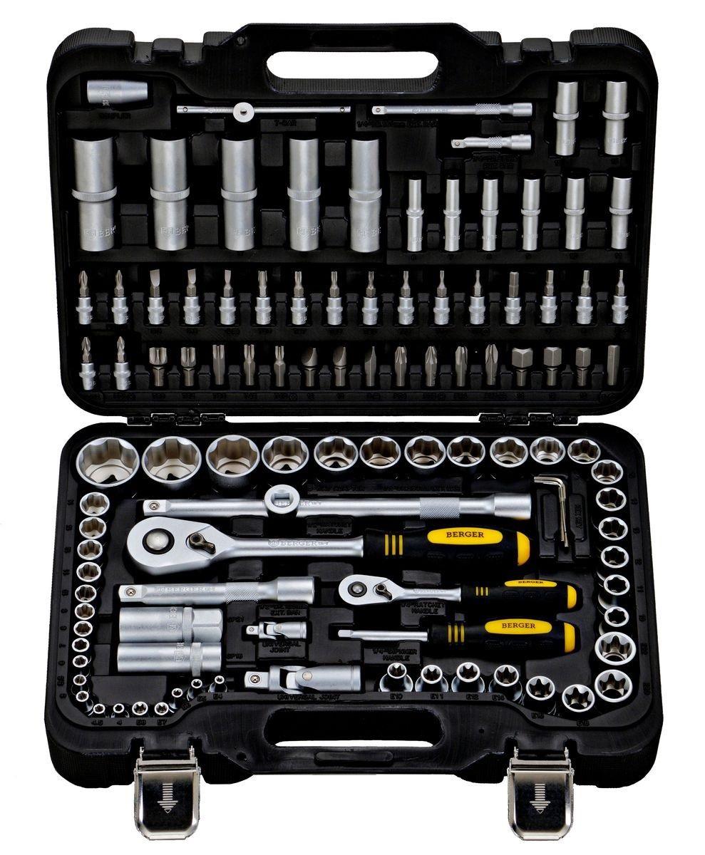 Набор инструментов универсальный Berger Bg108-1214 универсальный набор инструментов berger 151 предмет bg151 1214