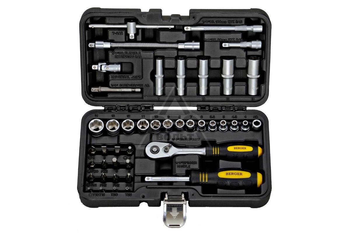 62e81ad49b89 Набор инструментов в кейсе Berger BG043-14 - купить, цена, отзывы  2 ...