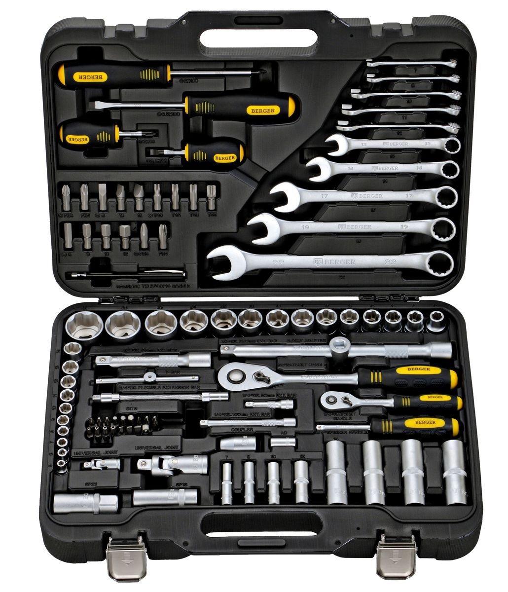 Универсальный набор инструментов Berger Bg095-1214 универсальный набор инструментов berger 151 предмет bg151 1214