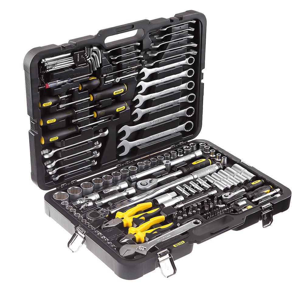 Набор инструментов, 141 предмет Berger Bg141-1214 универсальный набор инструментов berger 151 предмет bg151 1214