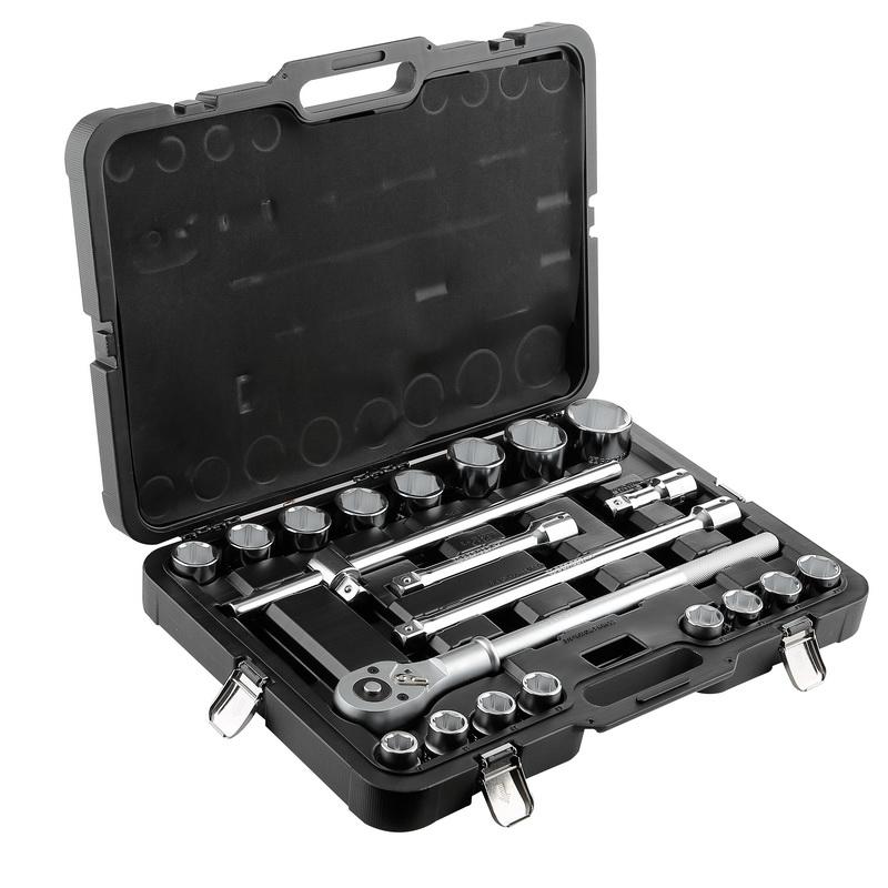 Набор торцевых ключей, 21 предмет Berger Bg021-34 набор ключей berger комбинированных 17 предметов bg1145