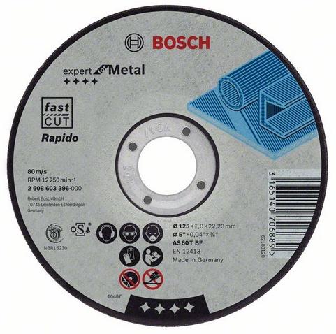 Круг отрезной Bosch 180х1.6х22 expert for metal rapido (2.608.603.403) круг отрезной bosch expert for metal 230x1 9x22 2 608 603 400