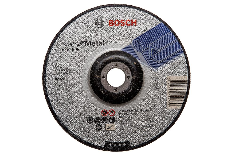 Круг отрезной Bosch 180х3х22 expert for metal (2.608.600.316) круг отрезной bosch expert for metal 230x1 9x22 2 608 603 400