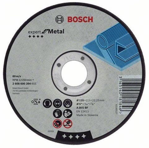 Круг отрезной Bosch 230х2.5х22 expert for metal (2.608.600.225) круг отрезной bosch expert for metal 230x1 9x22 2 608 603 400