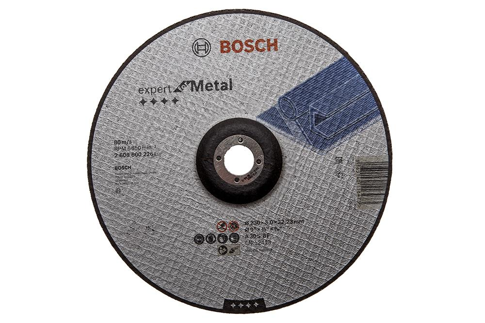 Круг отрезной Bosch 230х3х22 expert for metal (2.608.600.226) круг отрезной bosch expert for metal 230x1 9x22 2 608 603 400