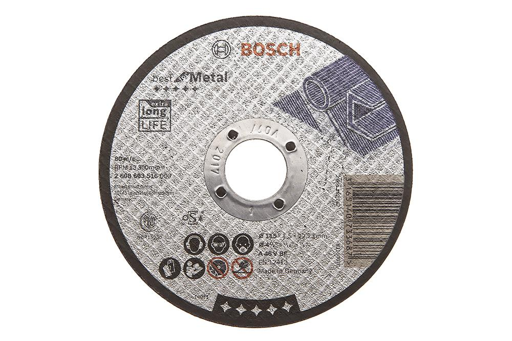 Круг отрезной Bosch 115х1.5х22 best for metal (2.608.603.516) круг отрезной bosch 115х1 5х22 best for metal 2 608 603 517