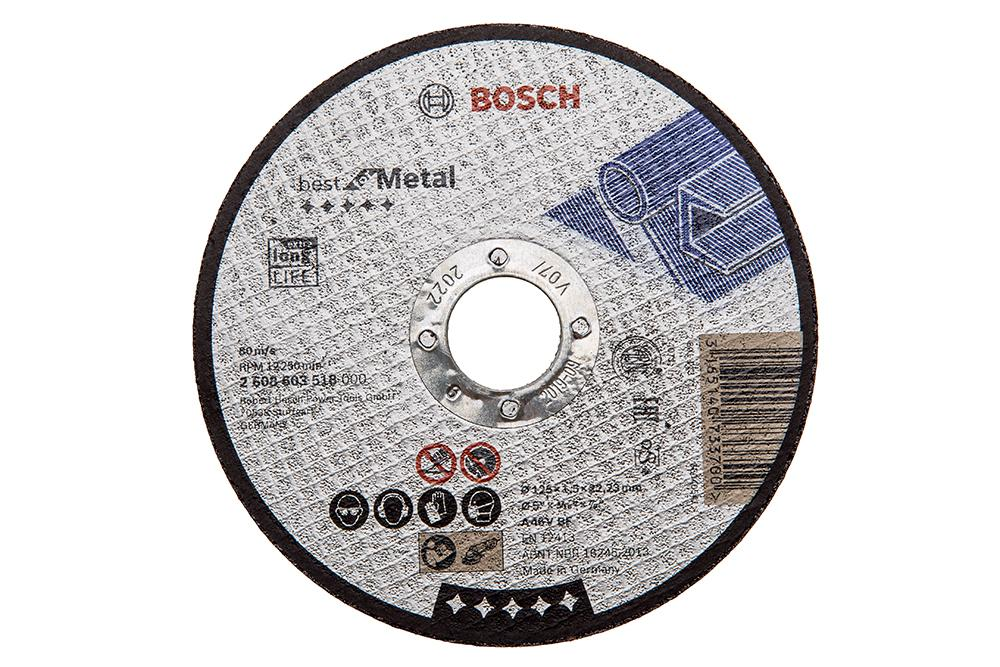 Круг отрезной Bosch 125х1.5х22 best for metal (2.608.603.518) круг отрезной bosch 115х1 5х22 best for metal 2 608 603 517