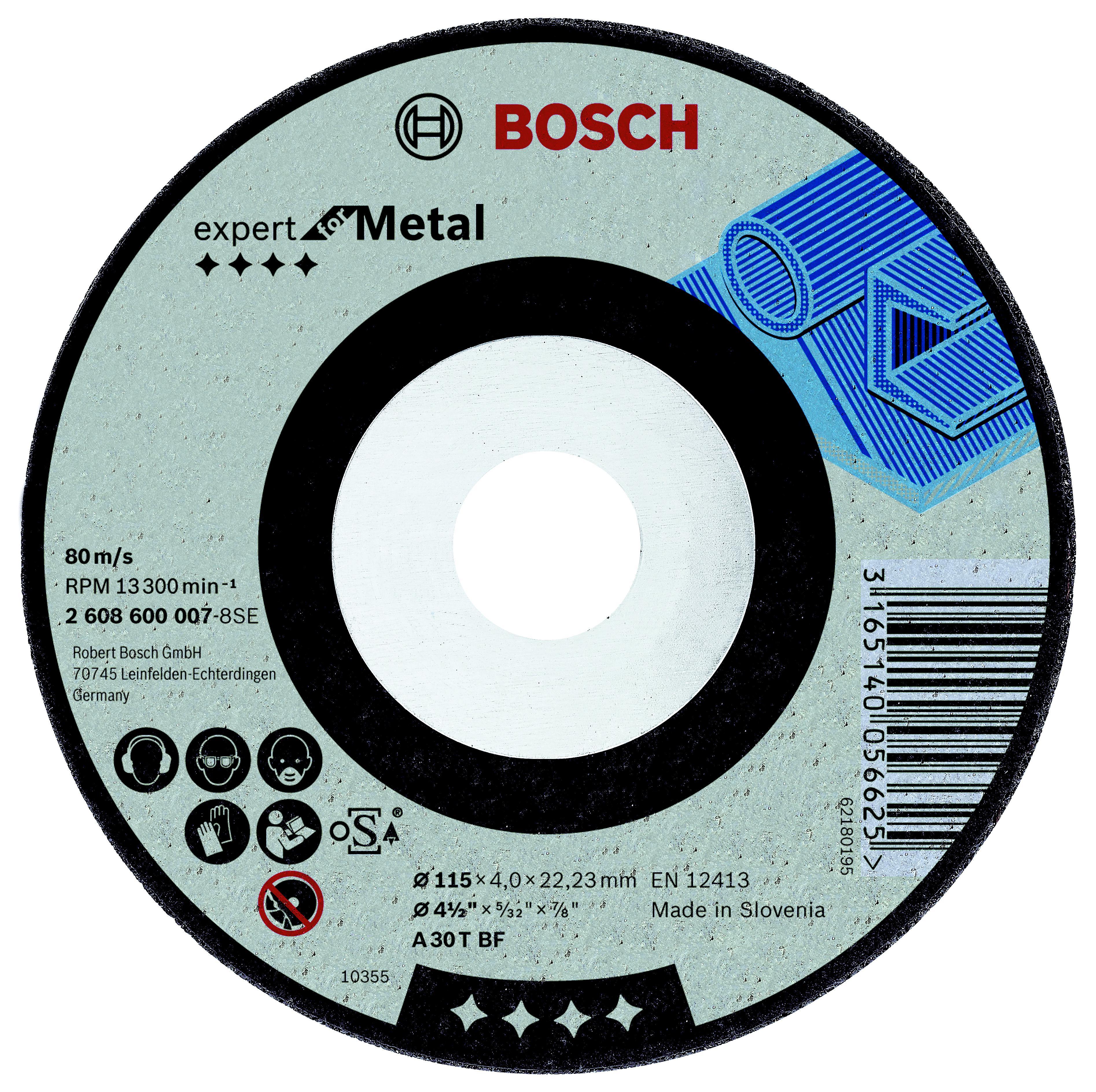 Круг зачистной Bosch 115х4х22мм 14А bosch 14 4v 4 0ah 1600z00033