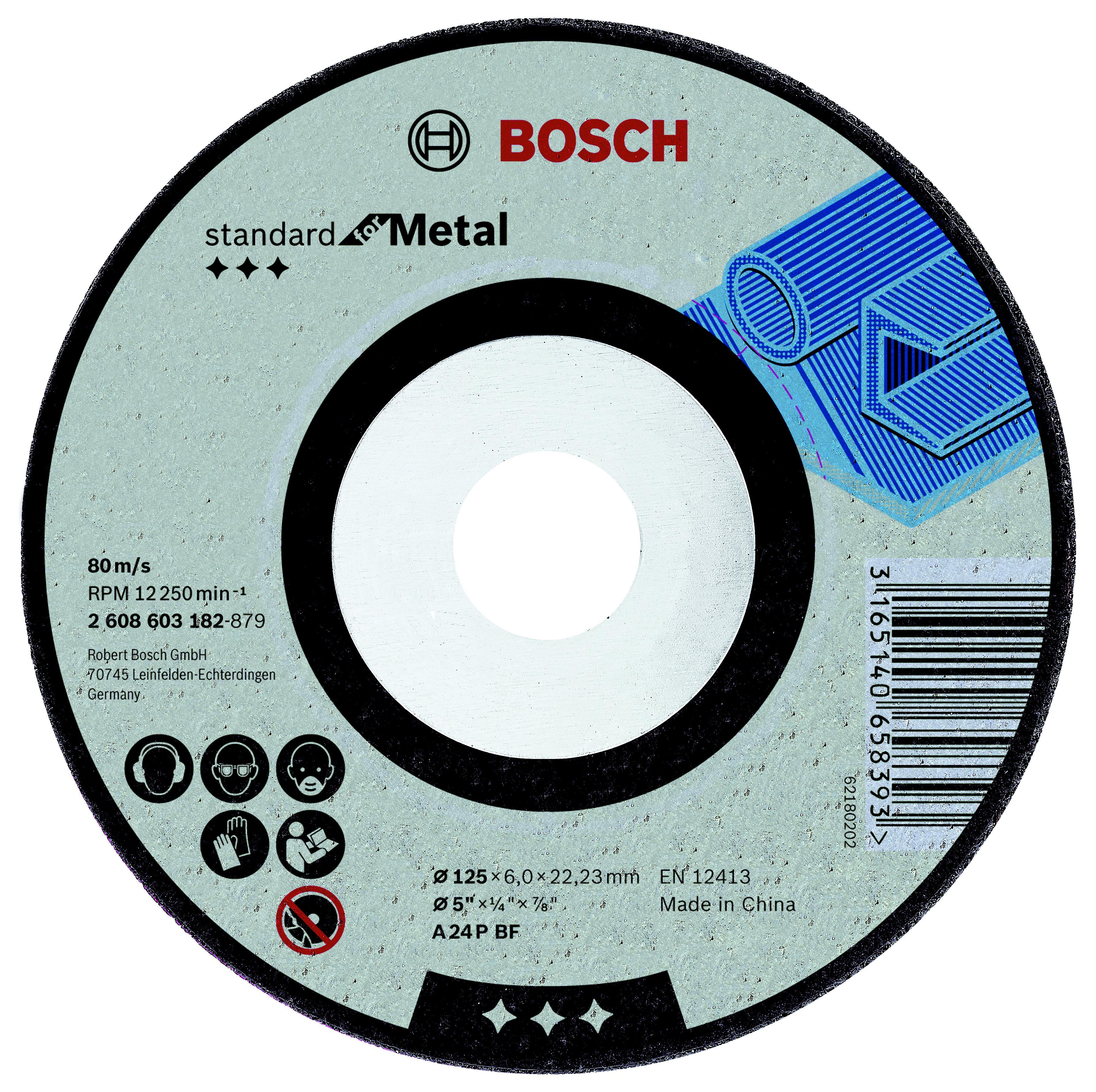 Круг зачистной Bosch Standard for metal 180x6x22 (2.608.603.183)