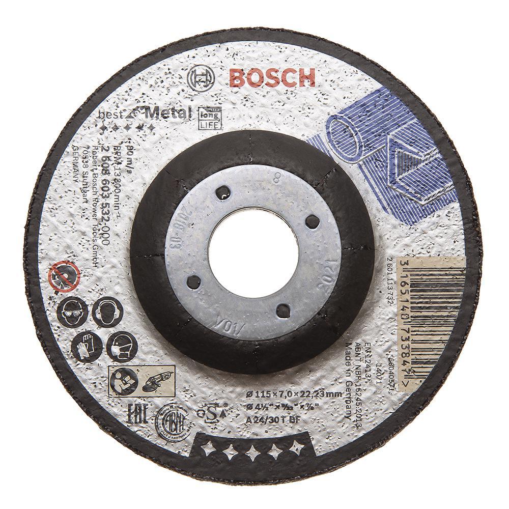 Круг зачистной Bosch 115х7х22мм 14А