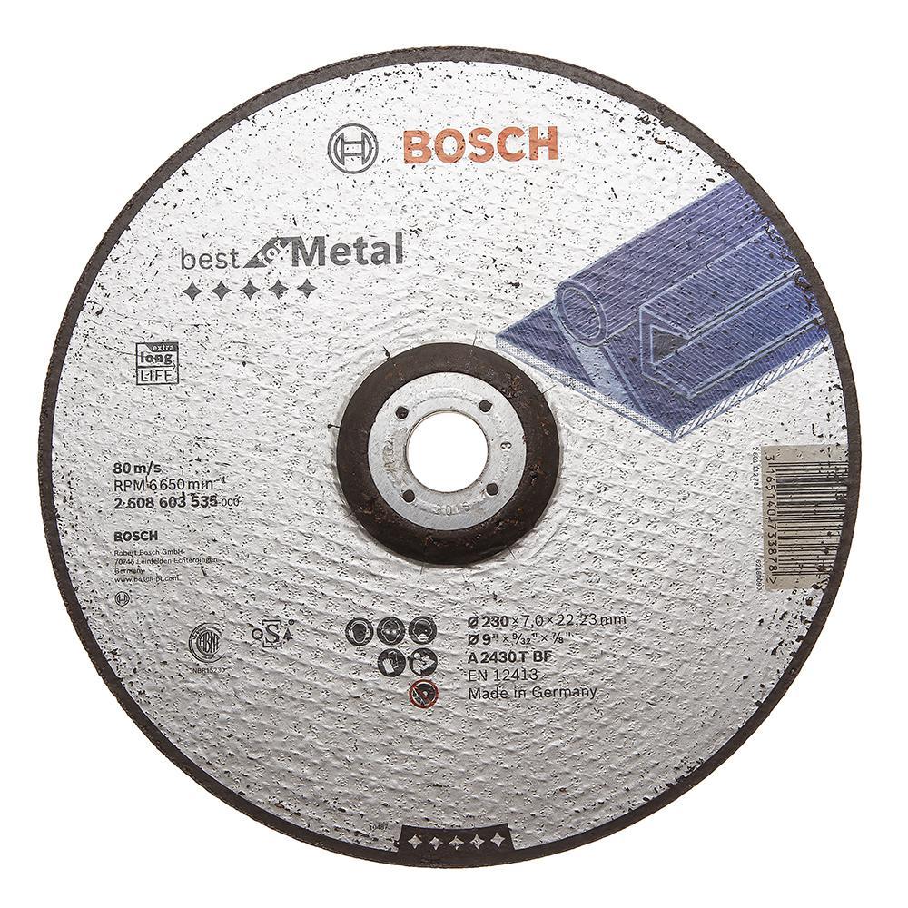 Круг зачистной Bosch Best for metal 230x7x22 (2.608.603.535) шлифовальная машина bosch gss 230 ave professional