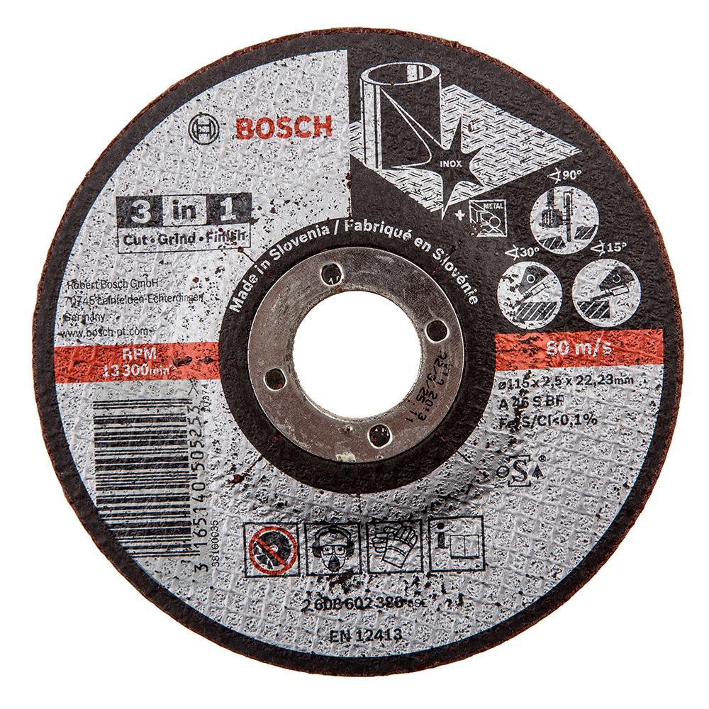 Круг отрезной Bosch 115х2.5х22 bosch 3 in 1 (2.608.602.388) круг отрезной bosch bosch 3 in 1 115x2 5x22 по нерж 2 608 602 388