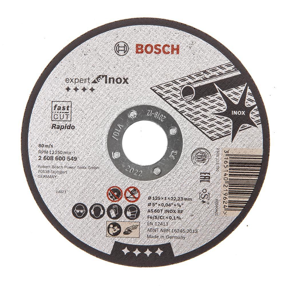 Круг отрезной Bosch Expert for inox 125x1,0x22по нерж. (2.608.600.549) диск отрезной bosch expert for inox