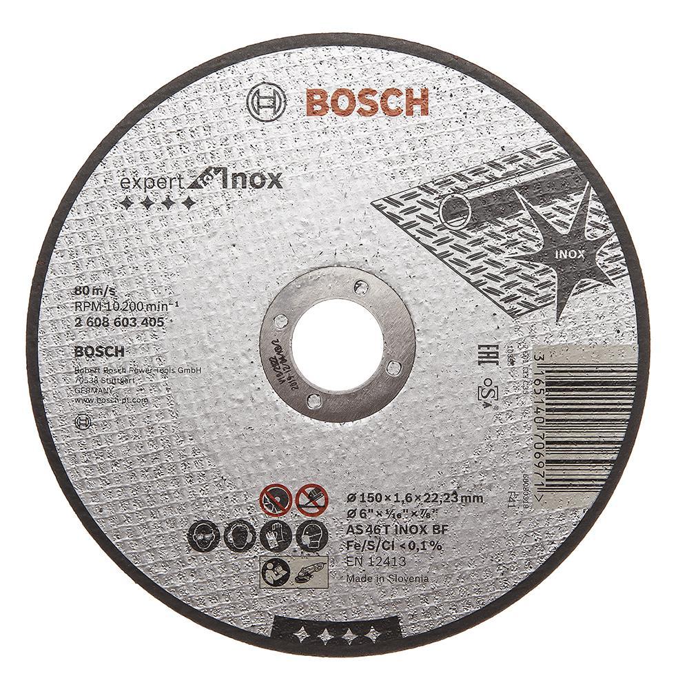Круг отрезной Bosch Expert for inox 150x1,6x22по нерж. (2.608.603.405) диск отрезной bosch expert for inox