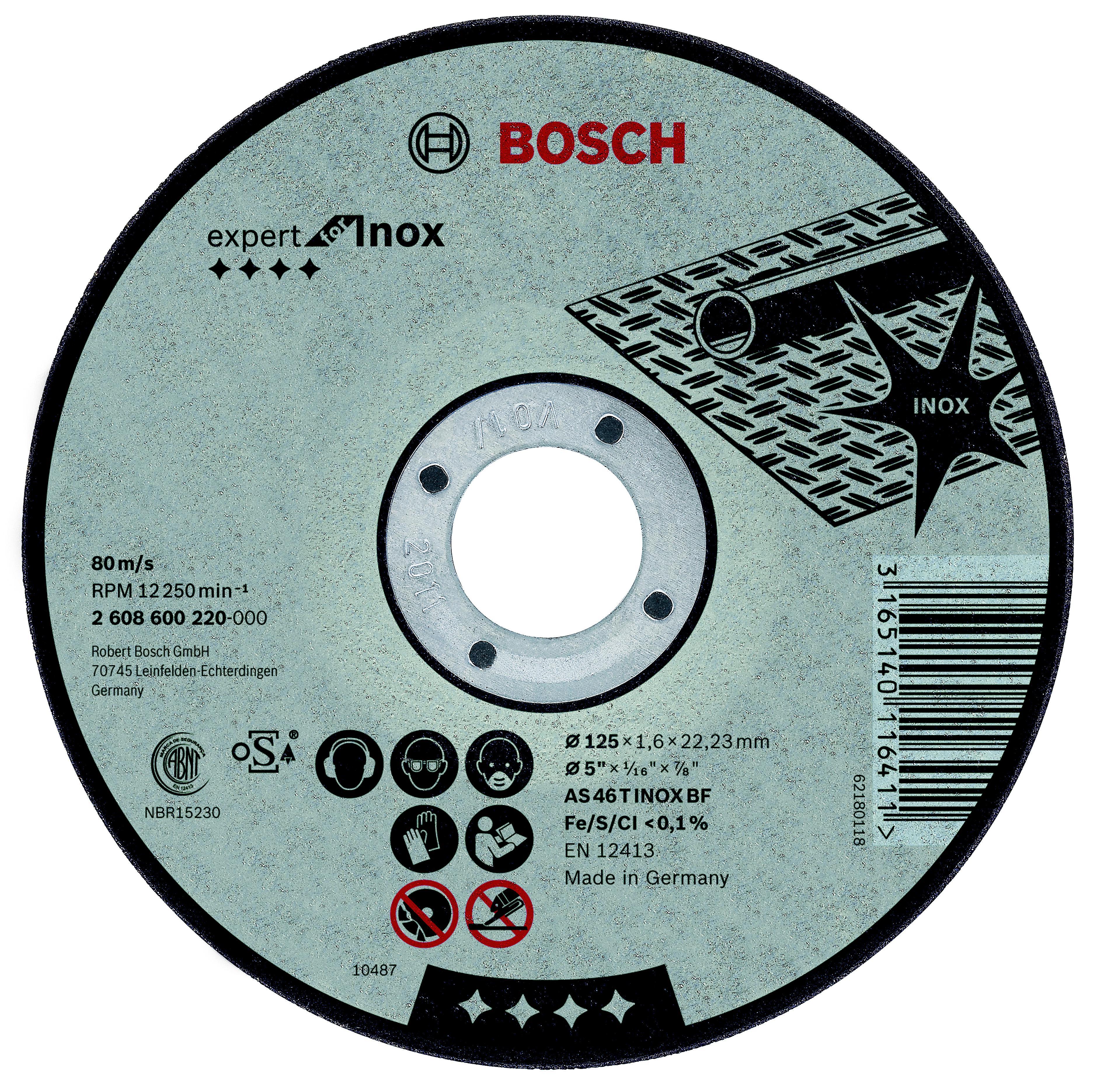 Круг отрезной Bosch 180х2х22 expert for inox (2.608.600.095) круг отрезной bosch bosch 3 in 1 115x2 5x22 по нерж 2 608 602 388