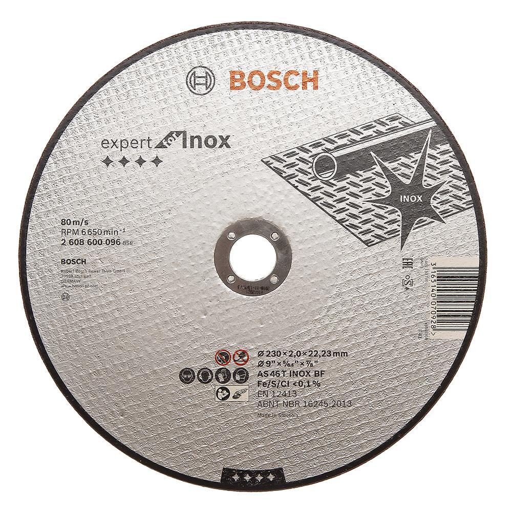 Круг отрезной Bosch Expert for inox 230x2,0x22по нерж. (2.608.600.096) диск отрезной bosch expert for inox