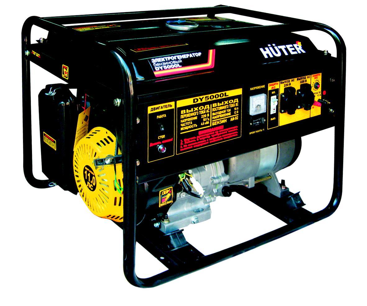 Бензиновый генератор Huter Dy5000l все цены