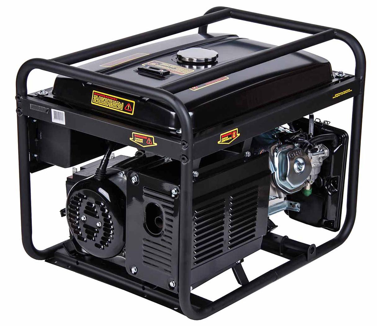 Бензиновый генератор Huter Dy6500lx, с колесами и аккумулятором генератор бензиновый bort bbg 6500
