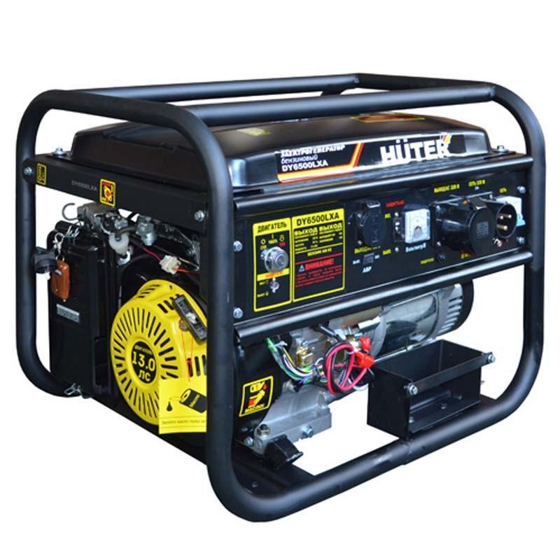 Бензиновый генератор Huter Dy6500lxa авто в никополе газ бензин