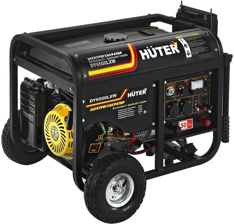 Бензиновый генератор Huter Dy6500lxw генератор бензиновый сварочный genholm ht 6800 lxw