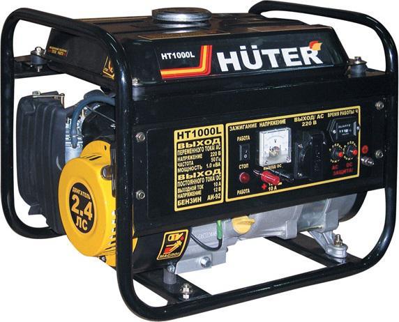 Бензиновый генератор Huter Ht1000l генератор бензиновый сварочный genholm ht 6800 lxw