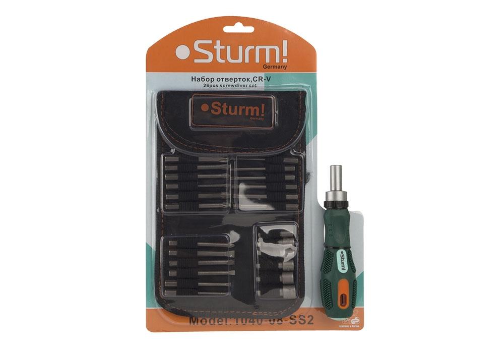 Отвертка с битами Sturm! 1040-08-ss2