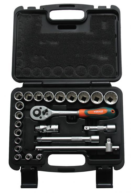 Набор торцевых головок с принадлежностями, 23 предмета Sturm! 1045-20-s23 набор инструмента sturm 1045 01 ss6