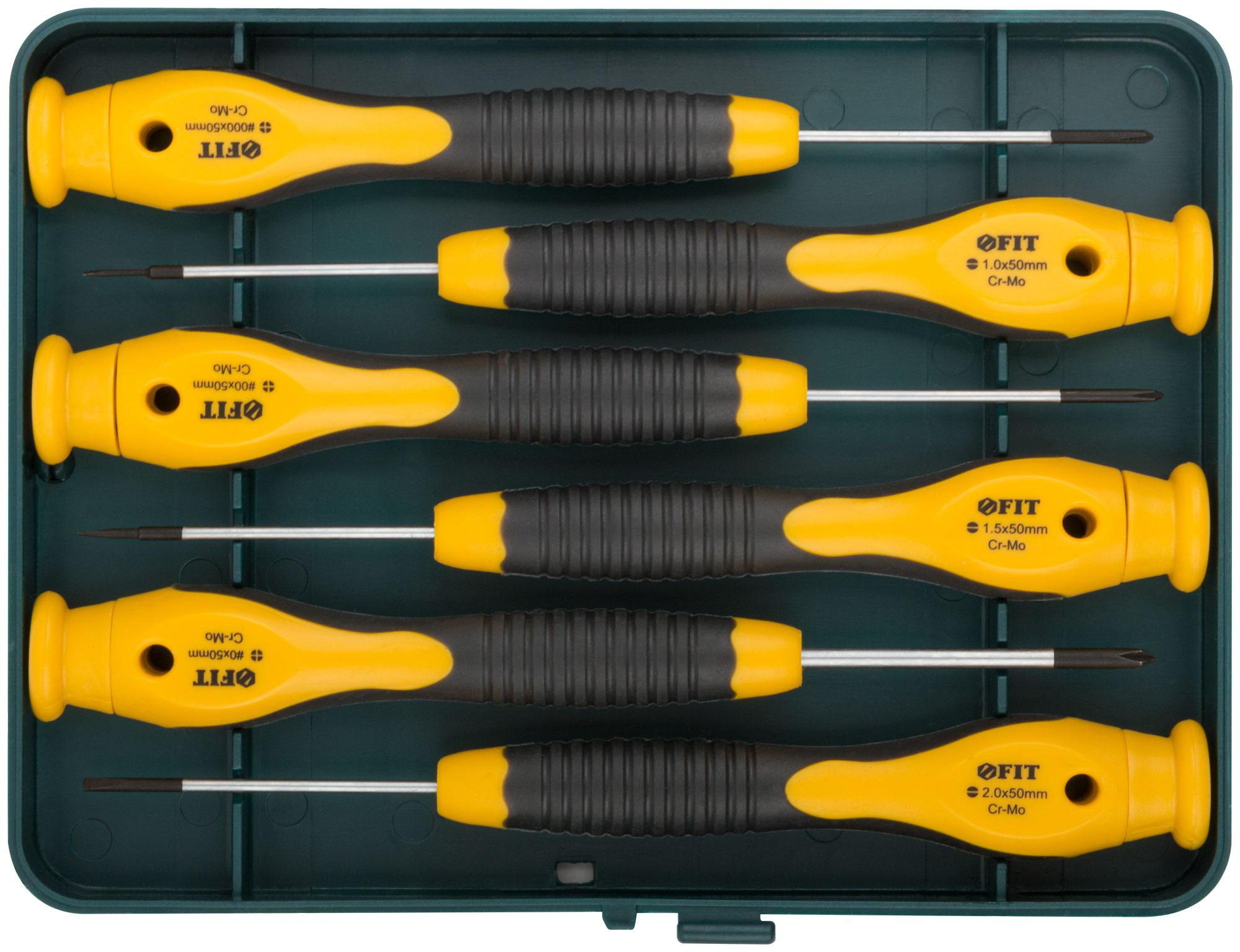 Набор отверток для точных работ Fit 56166 набор отверток fit 56041