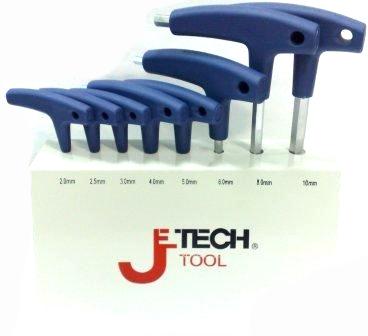 Набор шестигранных ключей с t-образной ручкой, 8 шт. Jetech Tps-c8 набор отвёрток jetech fm lh