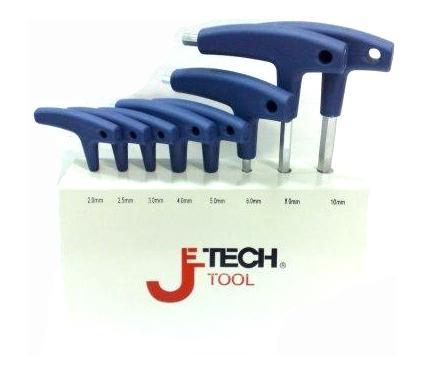 Набор шестигранных ключей с T-образной ручкой, 8 шт. JETECH TPS-C8