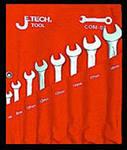 Набор комбинированных гаечных ключей в чехле, 8 шт. Jetech Com-s8 (5.5 - 19 мм) заклепочник усиленный jetech hr101