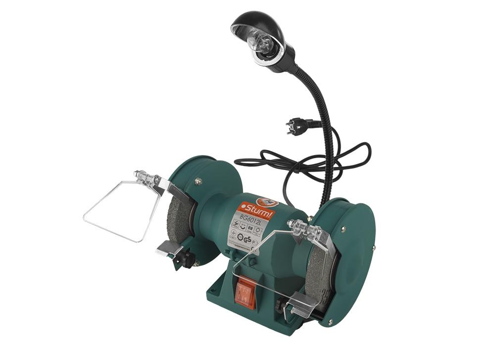 Точильный станок с подсветкой Sturm! Bg6012l станок точильный sturm bg6010s 49 мм
