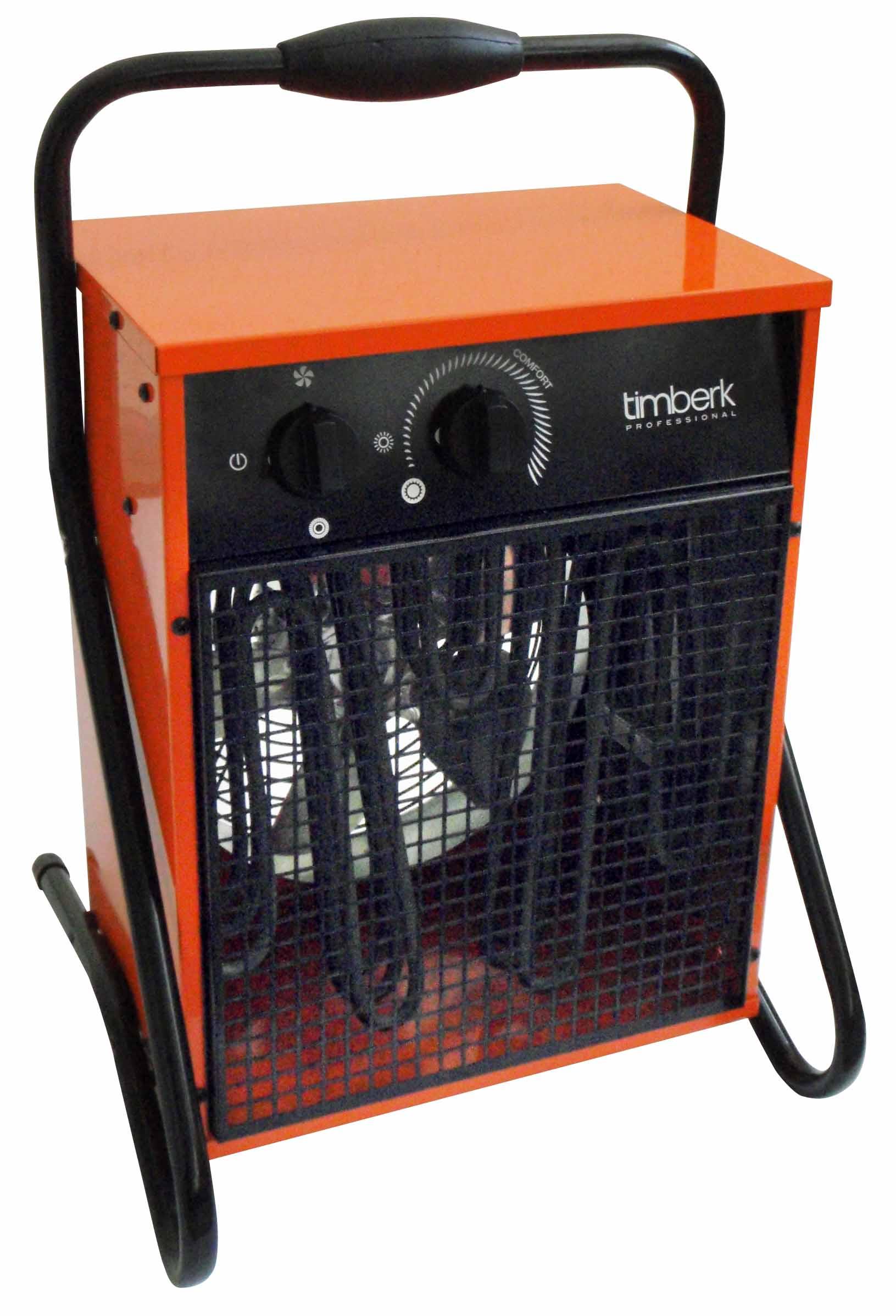 Тепловая пушка TimberkТепловые пушки и нагреватели (промышленные)<br>Тип тепловой пушки: электрические,<br>Мощность: 9000,<br>Способ нагрева: прямой,<br>Мобильность: переносной,<br>Производительность (м3/ч): 830,<br>Регулировка мощности: есть,<br>Защита от перегрева: есть,<br>Вес нетто: 12,<br>Напряжение: 380<br>
