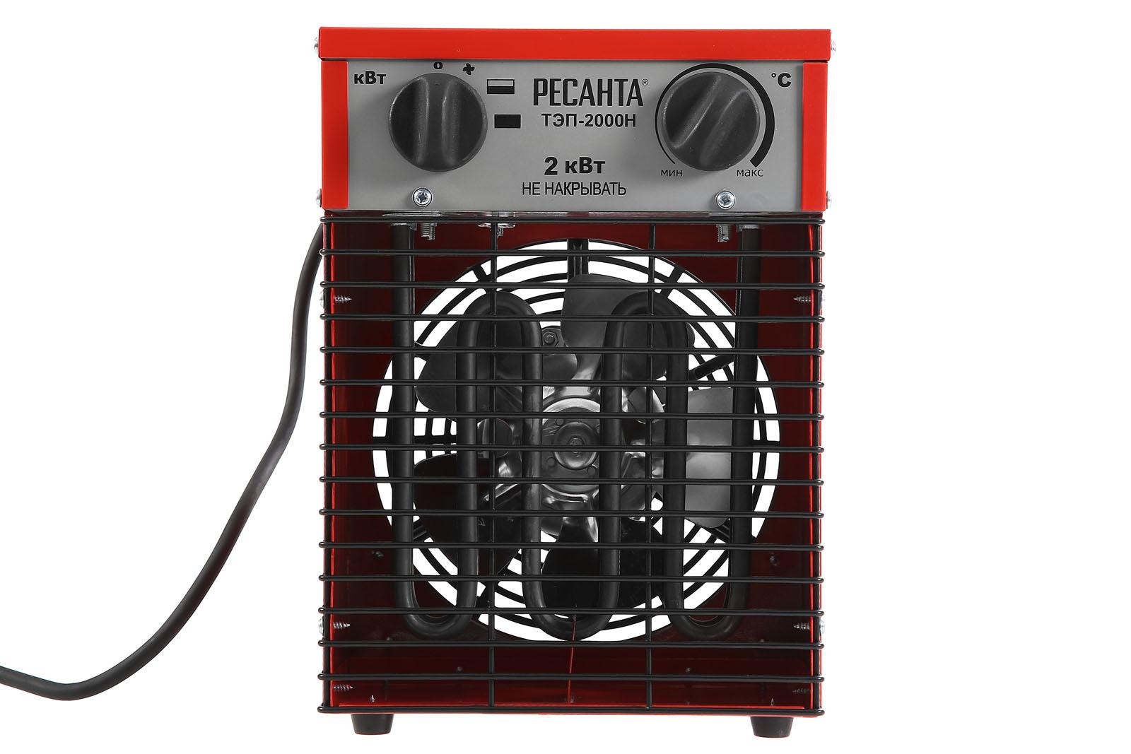 Электрическая тепловая пушка РЕСАНТА ТЭП-2000Н от 220 Вольт