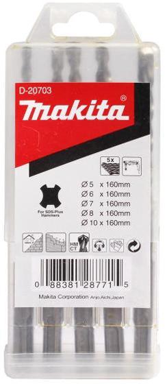 Набор буров Makita 160мм sds+ (d-20703) набор эм маруся 5 329 4м 1046731