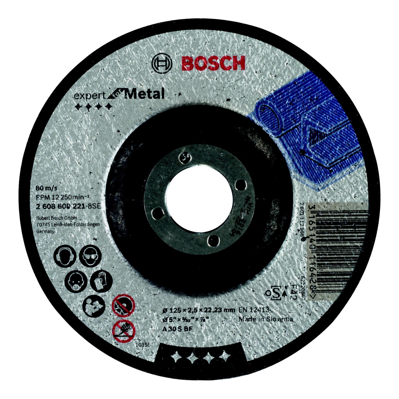 Круг отрезной Bosch 125х2.5х22 expert for metal (2.608.600.221) круг отрезной bosch expert for metal 230x1 9x22 2 608 603 400