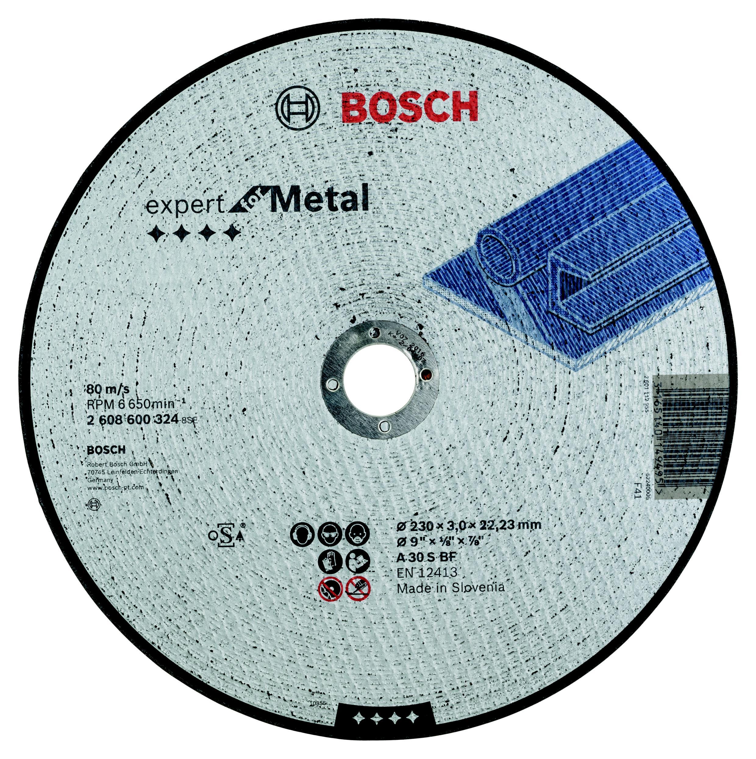 Круг отрезной Bosch 230х3х22 expert for metal (2.608.600.324) круг отрезной bosch bosch 3 in 1 115x2 5x22 по нерж 2 608 602 388