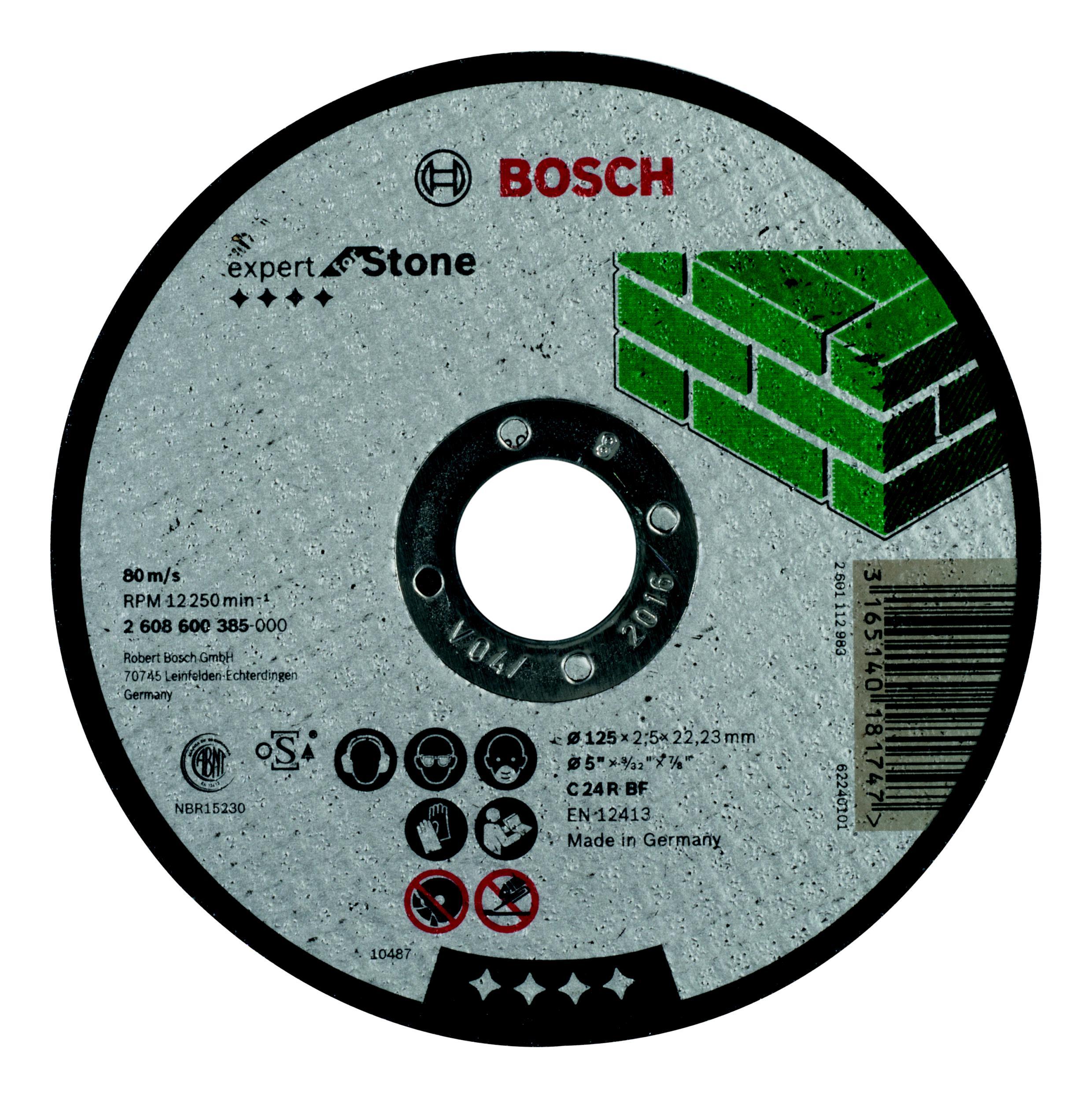 Круг отрезной Bosch 125х2.5х22 expert for stone (2.608.600.385) круг отрезной bosch expert for metal 230x1 9x22 2 608 603 400