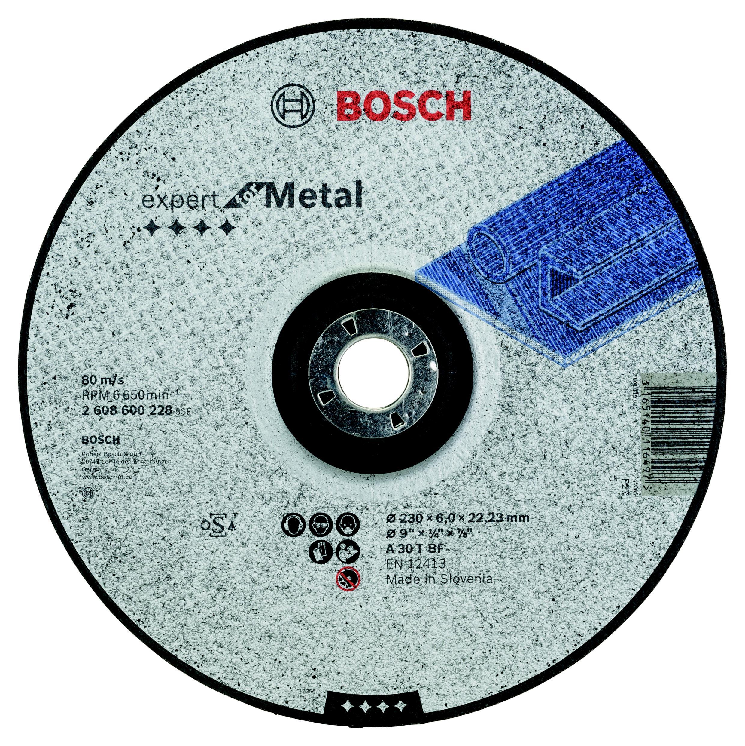 Круг зачистной Bosch 230х6х22мм 14А