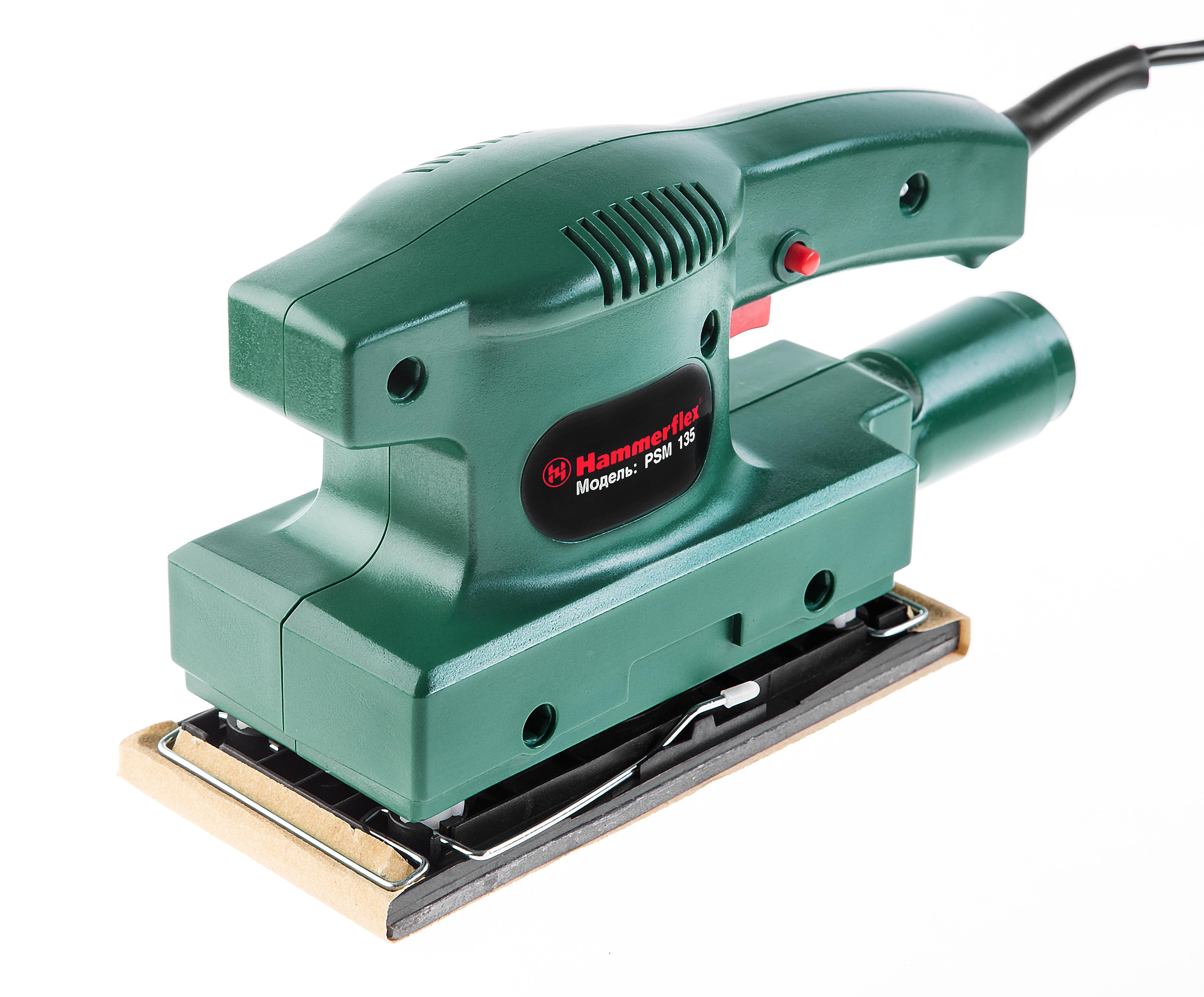 Машинка шлифовальная плоская (вибрационная) Hammer Psm135 машинка шлифовальная плоская вибрационная bosch gss 23 ae 0 601 070 721