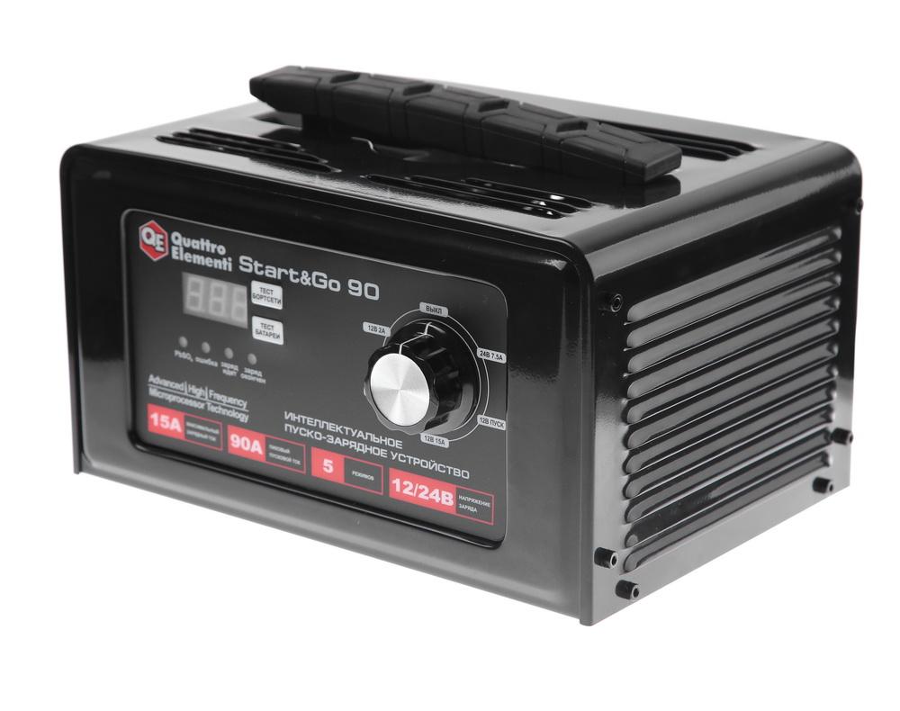 Устройство пуско-зарядное Quattro elementi Start&go90 аккумулятор для легкового автомобиля giver 6ст 90 90ач об