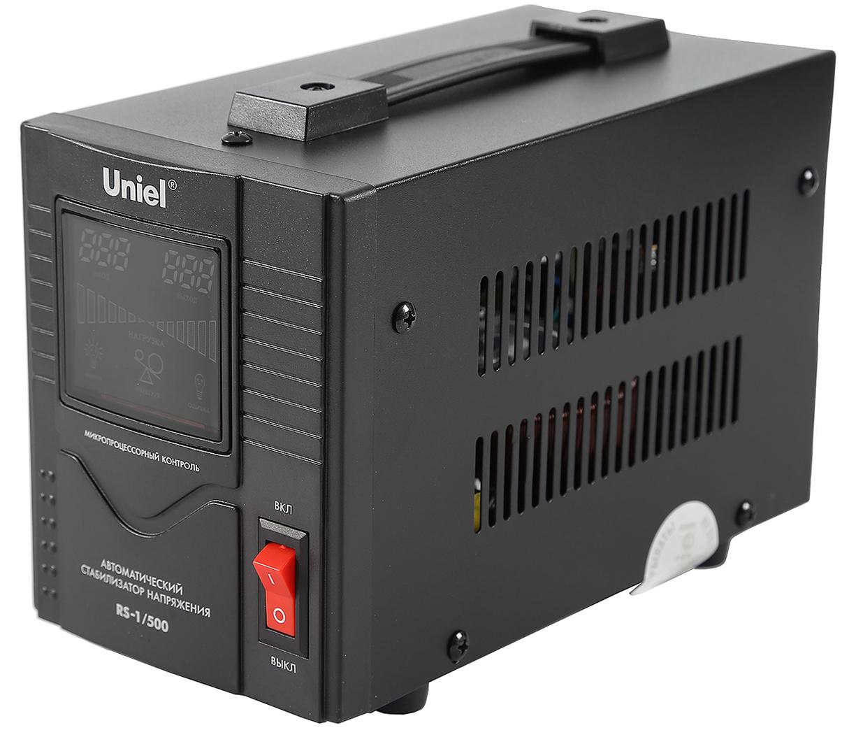 Стабилизатор напряжения Uniel Rs-1/500 стабилизатор навесной с гальванической развязкой 500 ва uniel