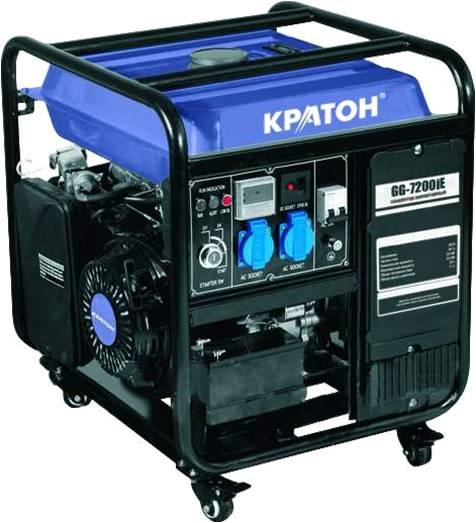Бензиновый генератор КРАТОН Gg-7200ie инверторный генератор кратон gg 900i 2t