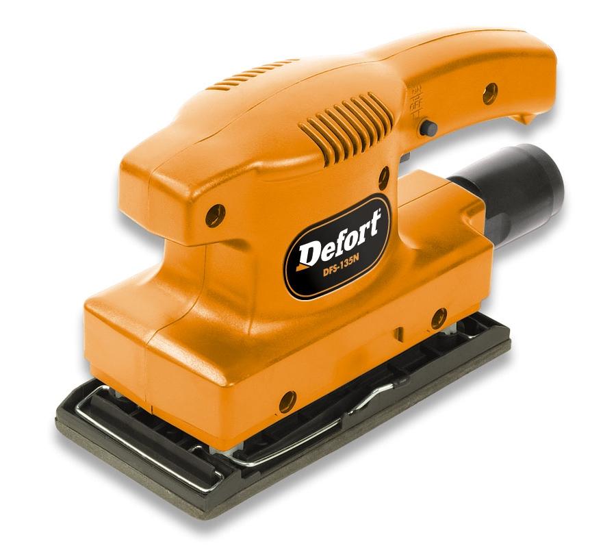 Машинка шлифовальная плоская (вибрационная) Defort Dfs-135n машинка шлифовальная плоская вибрационная makita bo4557