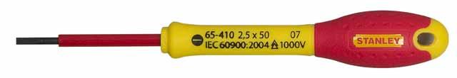 Купить Отвертка диэлектрическая шлицевая Stanley Fatmax 0-65-412